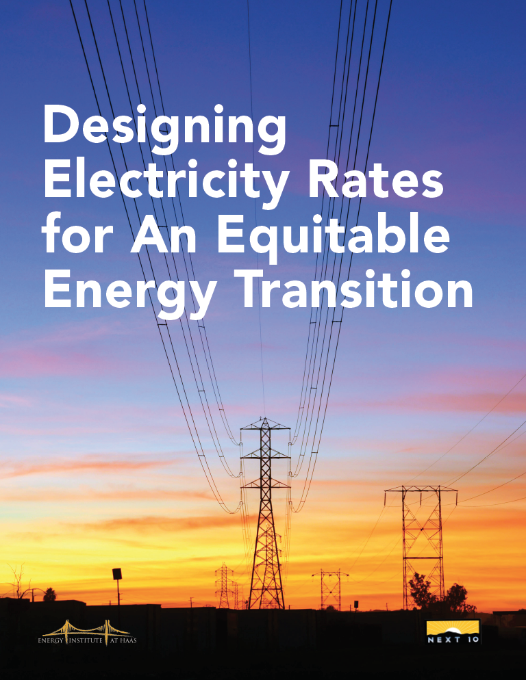 Designing Electricity Rates for An Equitable Energy Transition