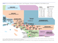Map 5 Low-Income RHNA Housing Progress, Southern California (SCAG & SANDAG)