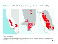 Fig 20 Location of DACs in California, and in Los Angeles County and the Central Valley